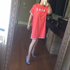 Nike Dresses - Red Nike oversized top